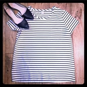 Old Navy striped navy white t shirt size small